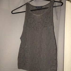 American Eagle Outfitters Tops - Grey crop top